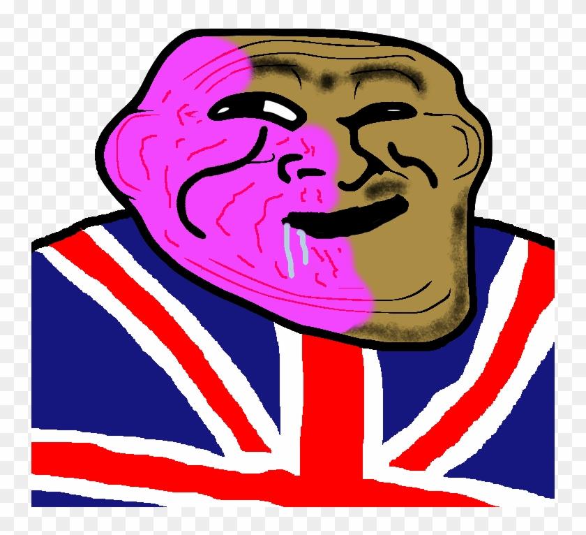 106kib, 750x750, Brit Trollface - Gay Troll Face Clipart #920200
