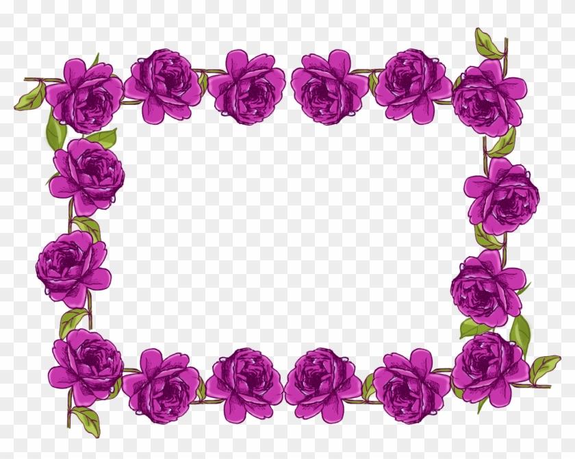 Rose Border Clip Art Png - Rose Flower Border Design Transparent Png #921109