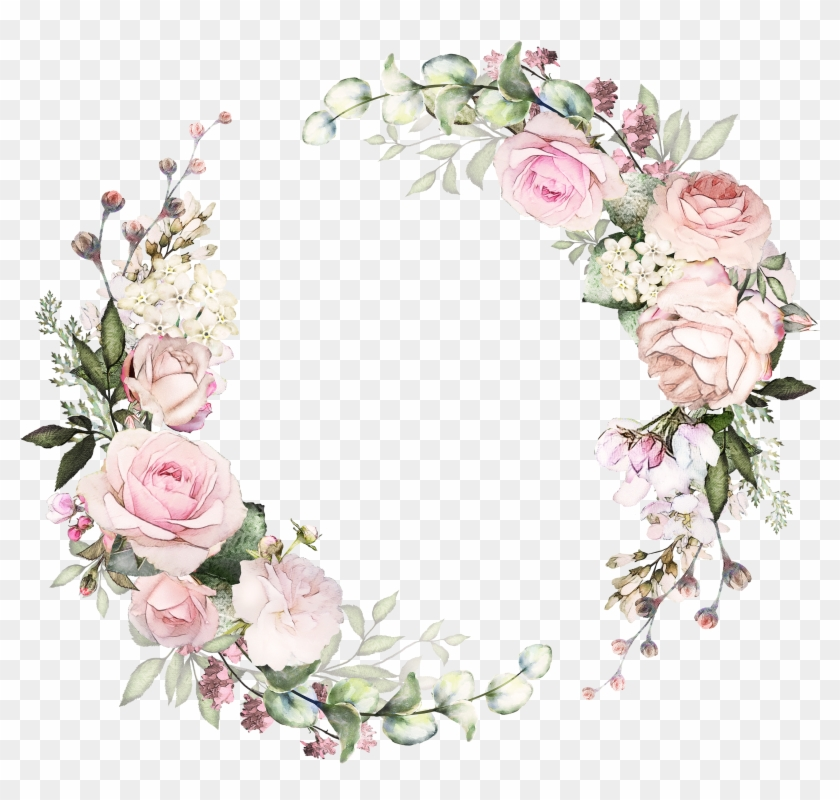 h746a frame floral flower frame floral wreath pink