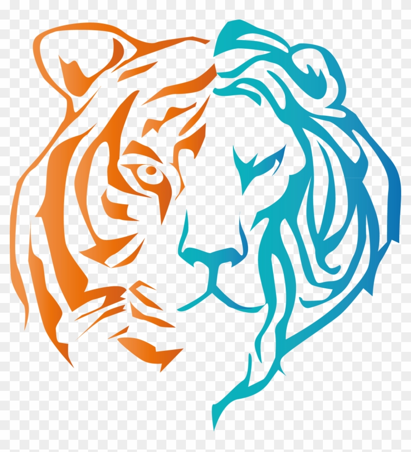 Lion Tiger - Tiger Faces Easy To Draw Clipart@pikpng.com