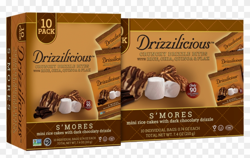 Smores 10 Pack - Drizzilicious S'mores Crisp With Chocolate Clipart #924500