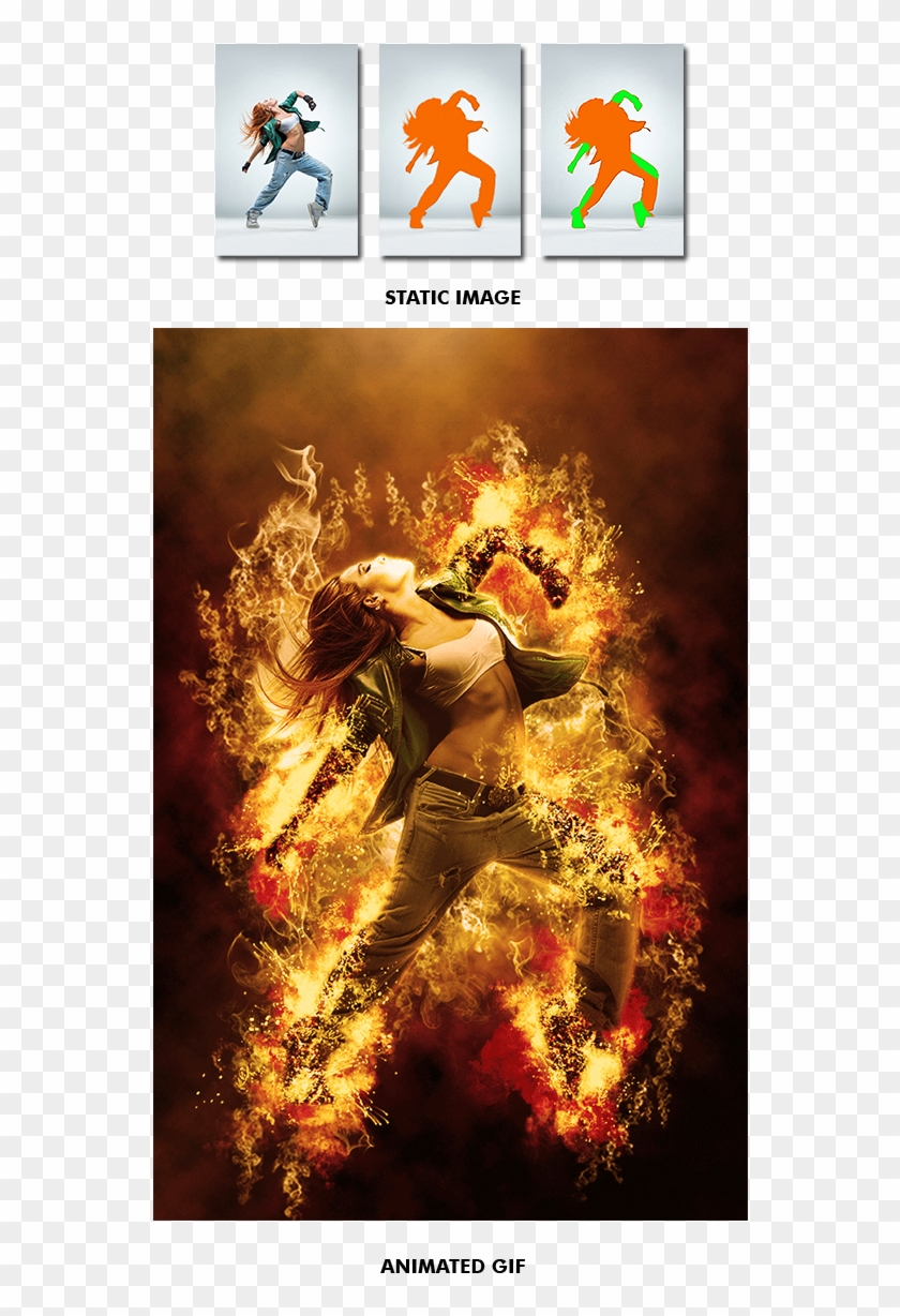 Gif Animated Fire Photoshop Action By Smartestmind - Poster Clipart #926590