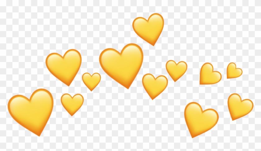Emoji Crown Png - Yellow Heart Emoji Crown Clipart@pikpng.com
