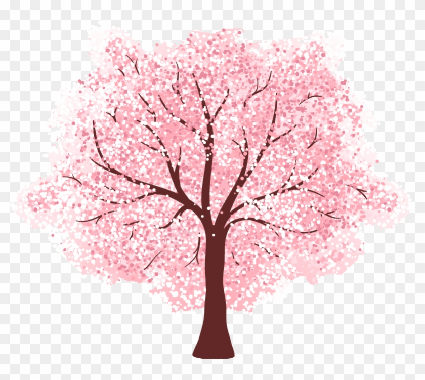 1 - - Cherry Blossom Drawings Of Trees Clipart #930115