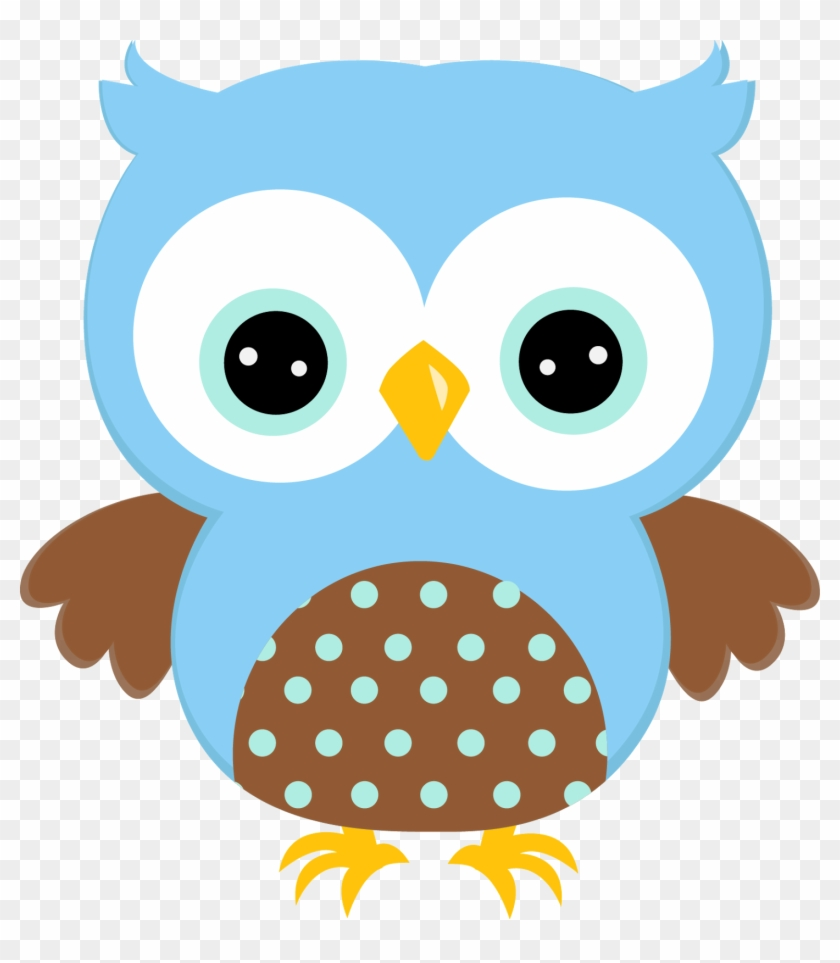 Baby Boy Owl Png - Cute Blue Owl Clipart Transparent Png #931075