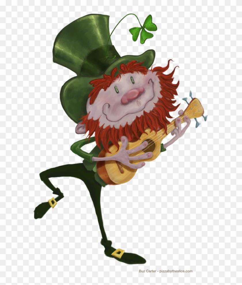 Leprechaun Dancing With Ukulele Transparent 800 Leprechaun On