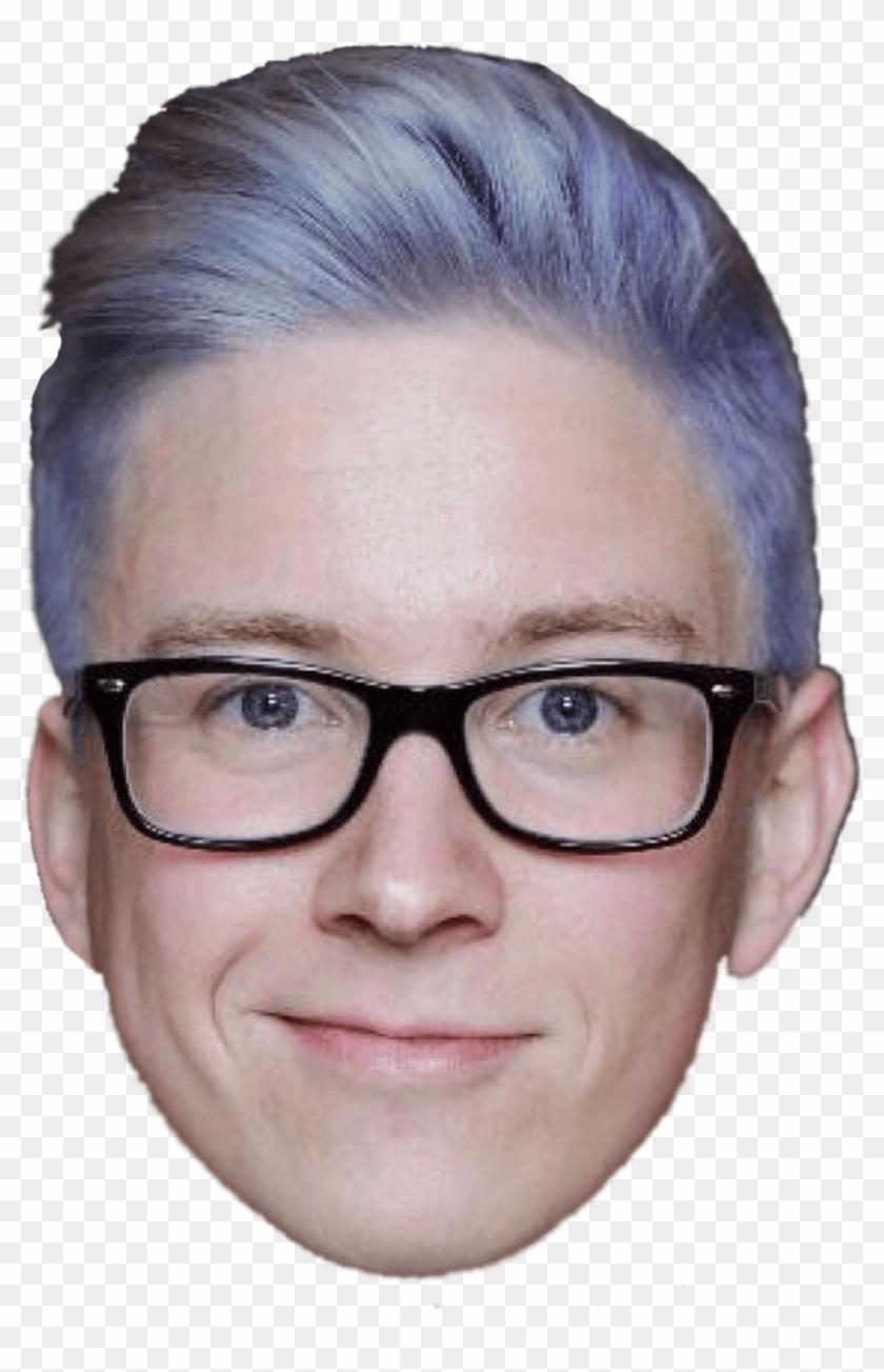 Tyler Oakley Front Face - Tyler Oakley Clipart #932329