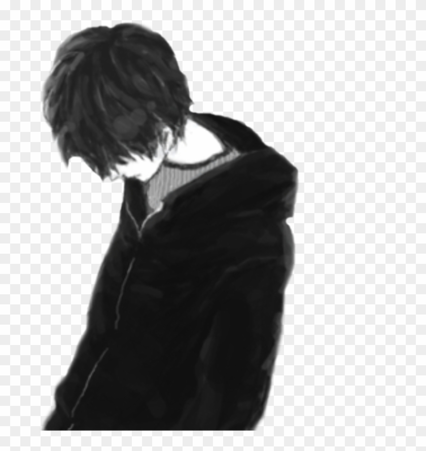 Girl And Alone Buscar Sad Anime Boy Png Clipart 932498 Pikpng