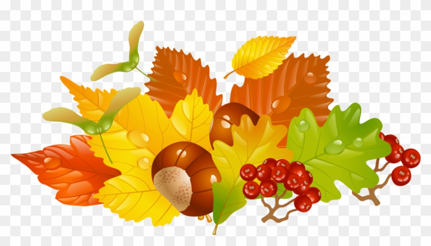 Fall Leaves Wreath Clipart - Png Download #933985
