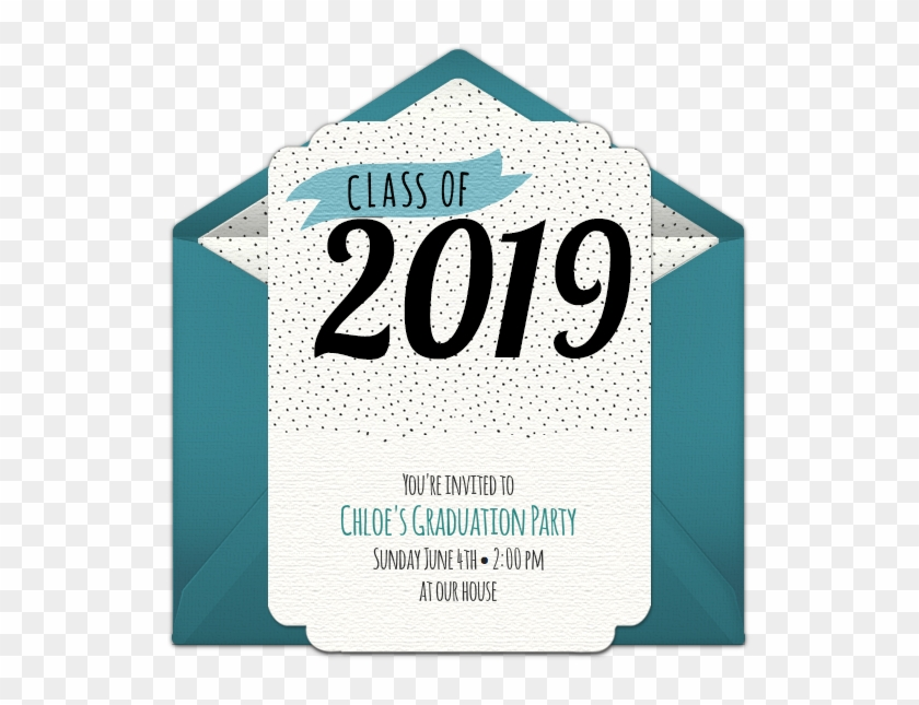 Class Of 2019 Dots Online Invitation - Poster Clipart #943981