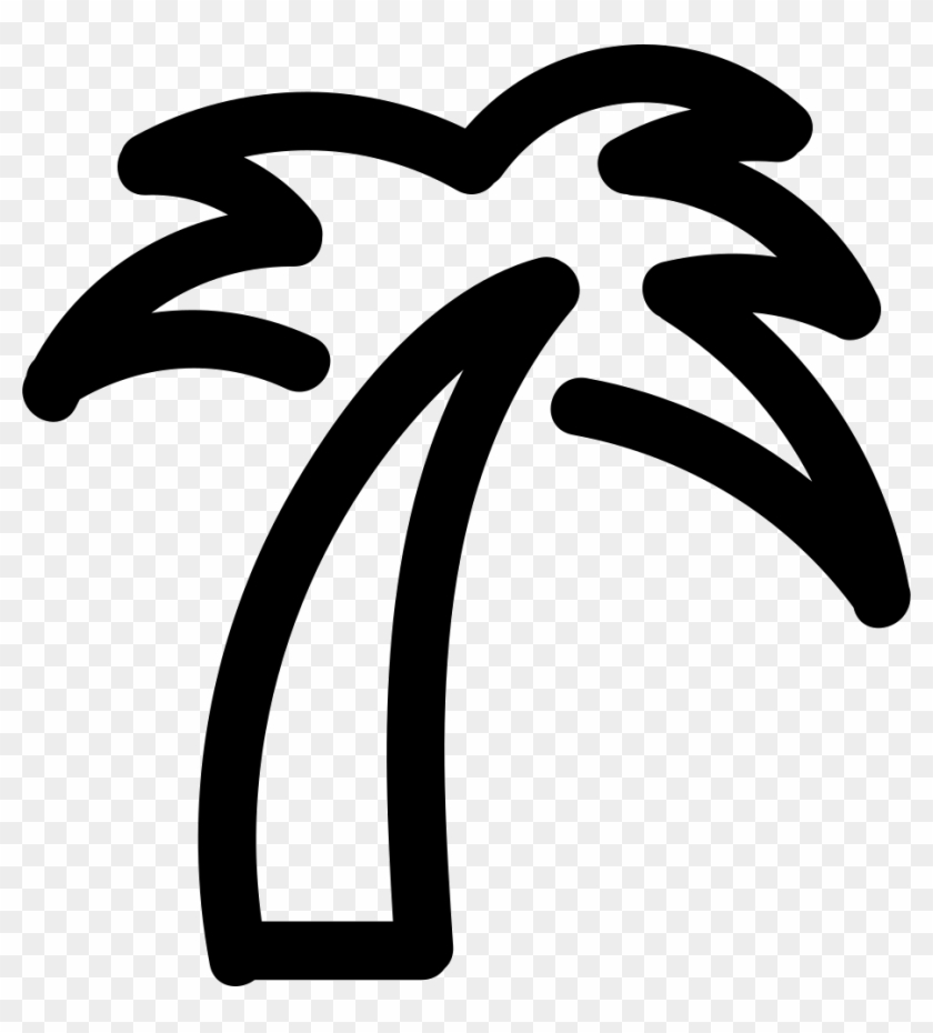 Palm Tree Icon Png - Palm Tree Outline Png Clipart #947078