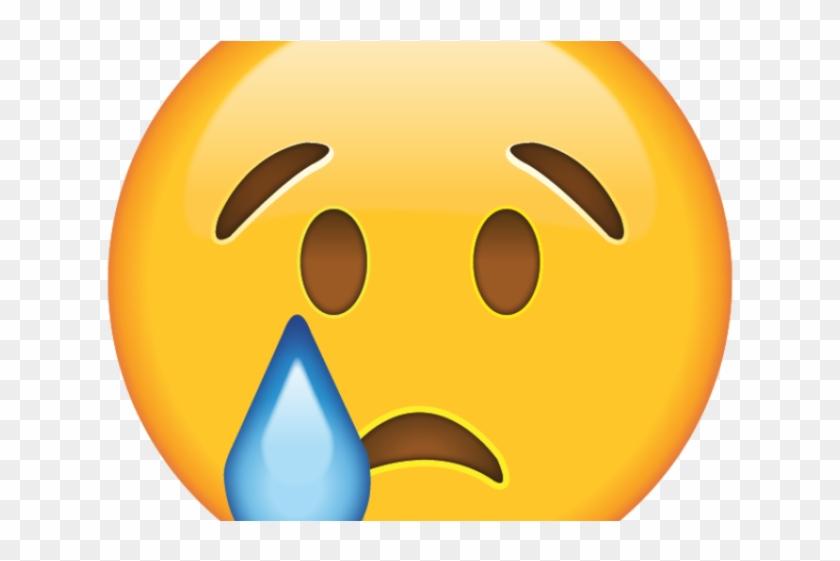 Crying Emoji Clipart Face - Sad Emoji Png Transparent Png #947174