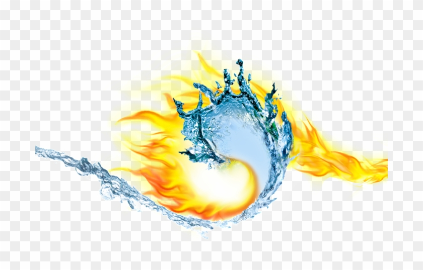 Water And Fire Blending Transparent, Download Original - Fire And Ice Png Clipart #957318