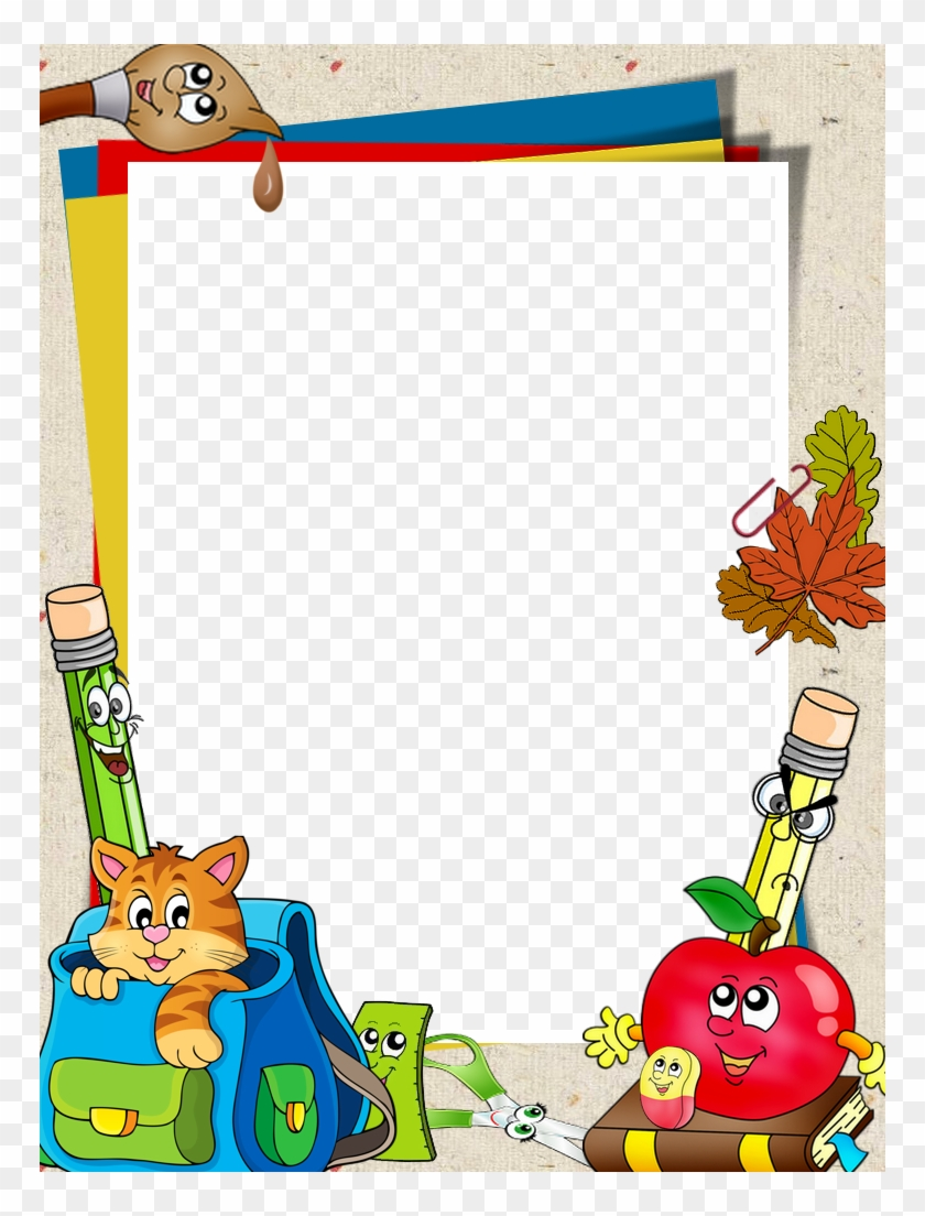 School Clipart Border Design - Borders And Frames For School - Png Download #957861