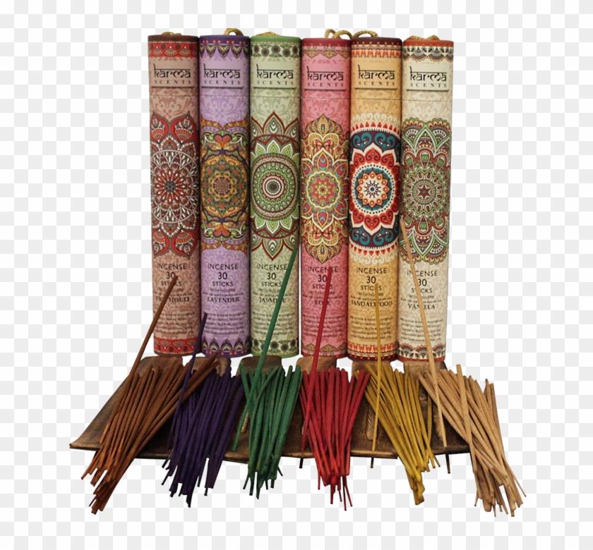 Karma Scents Incense Sticks - Incense Sticks Package Design Clipart #958234
