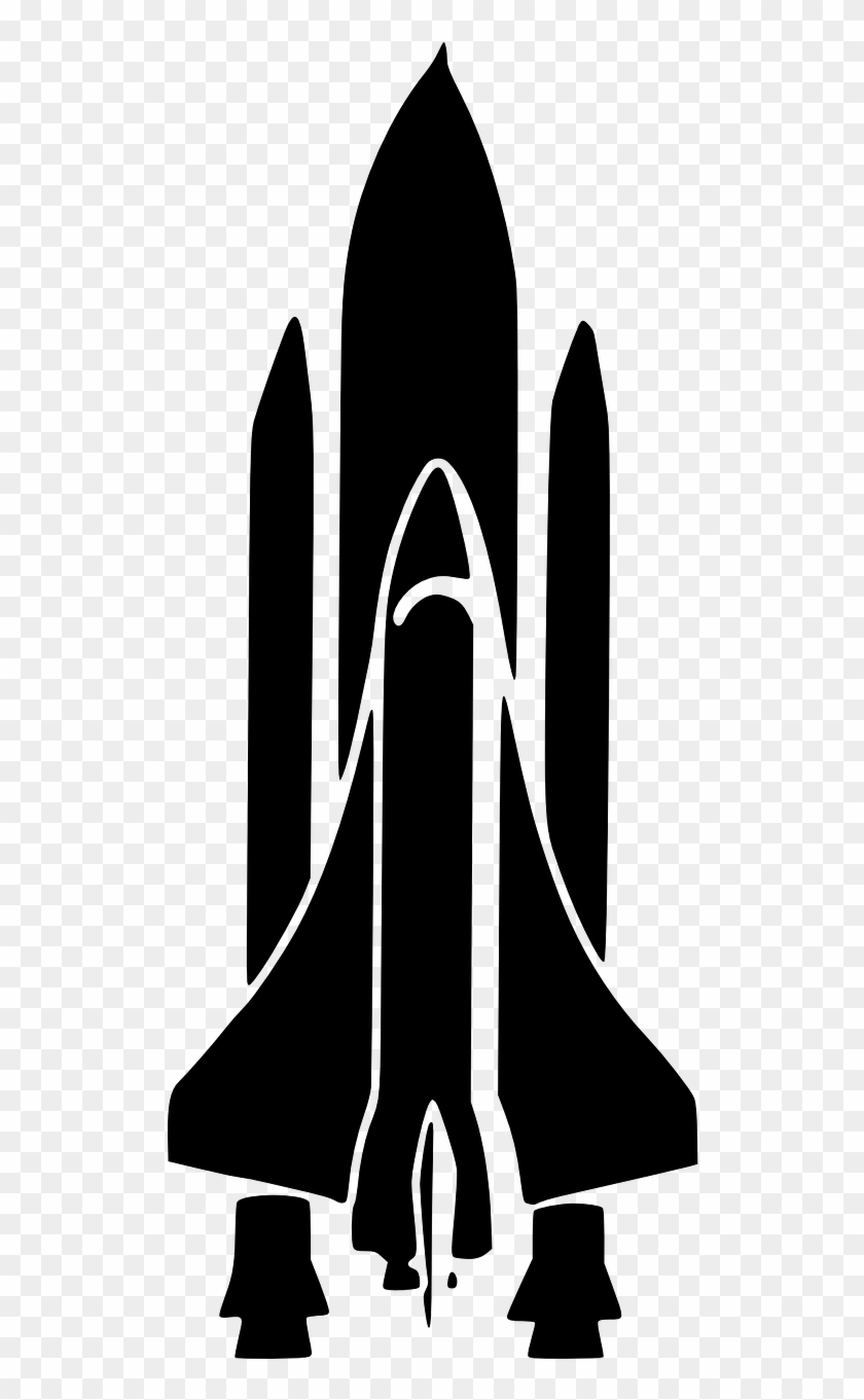 Nasa Png - Space Shuttle Silhouette Clipart #958284