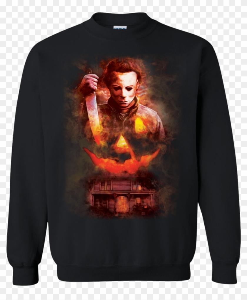 Halloween Michael Myers Pumpkin T-shirt - Lesbian Couple Christmas Gift Ideas Clipart #961575