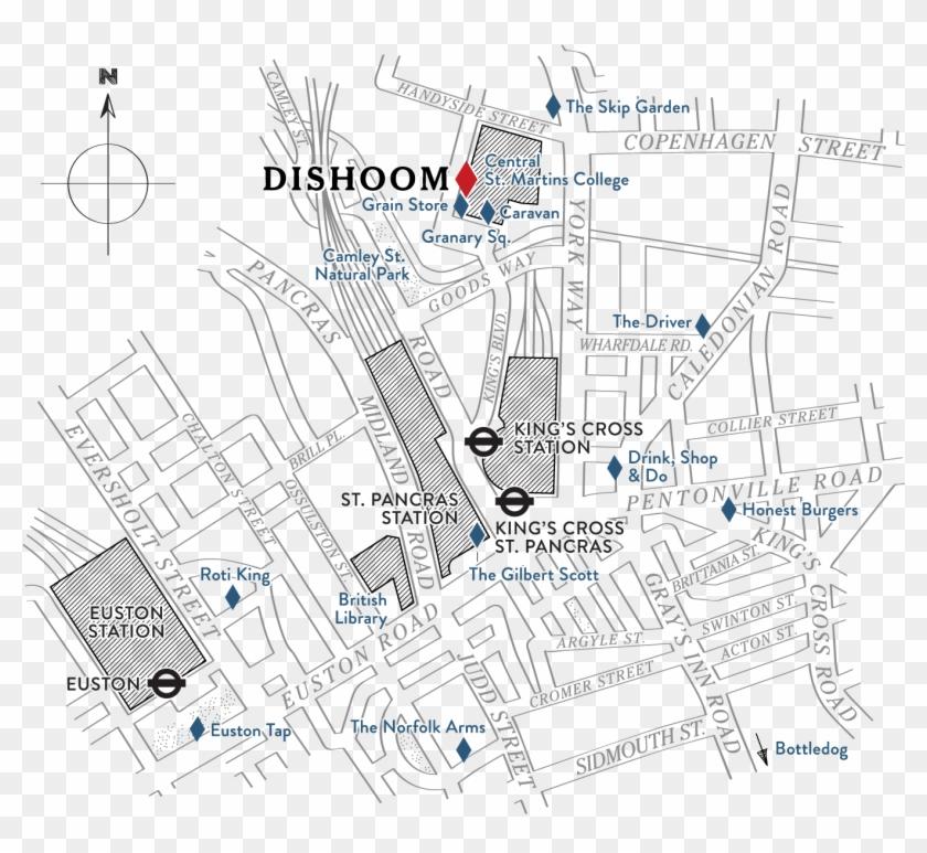 King's Cross - Kings Cross Fire Map Clipart #966594