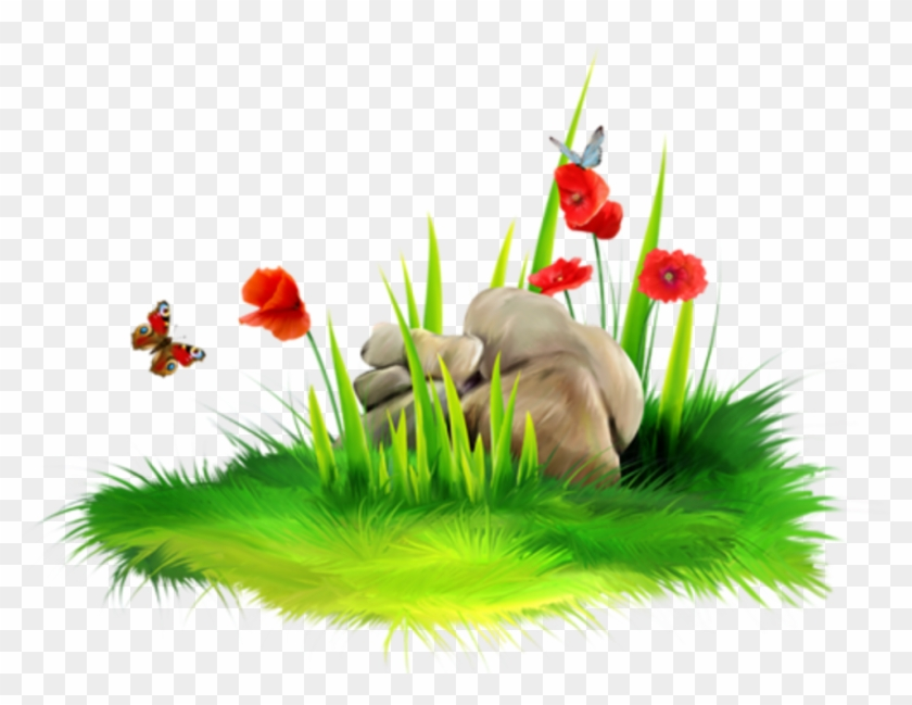 Tubes Fleurs - - Carolineblue - Grass Flower Hd Png Clipart #967845