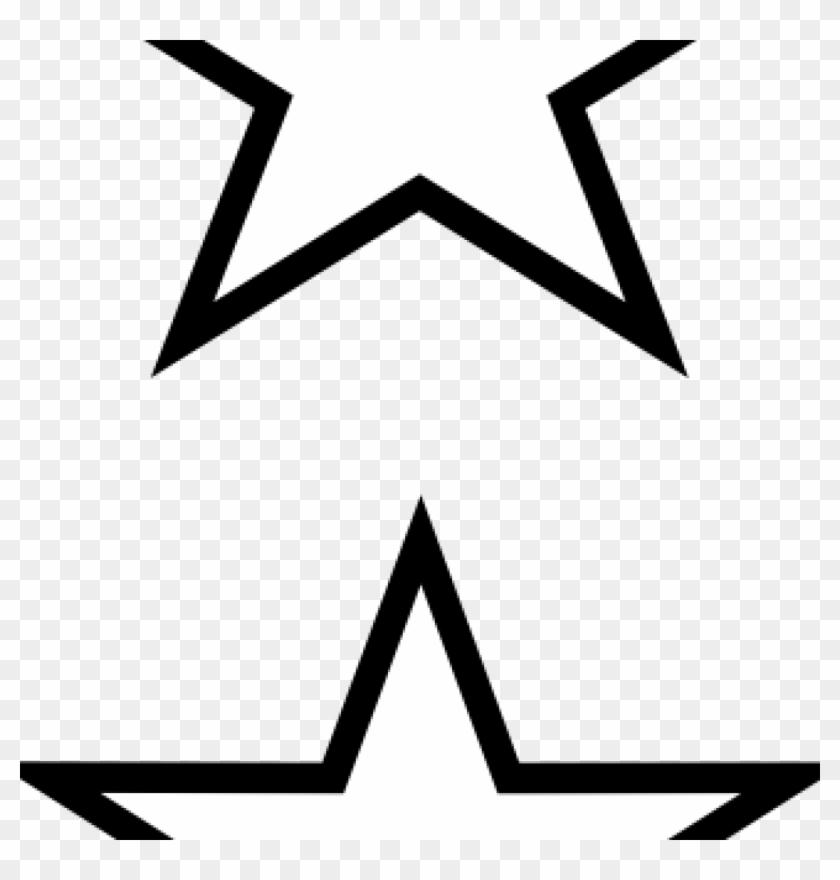 White Star Clipart Stars Clip Art At Clker Vector Online - Star Outline Vector Png Transparent Png #969460