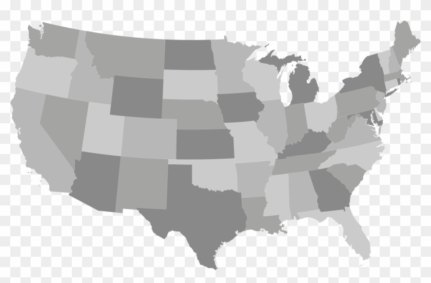 Us-map - Right To Work States 2017 Clipart #977839