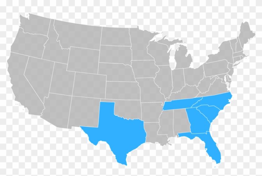 Usa Map South Southeast - 2019 Us Senate Map Clipart #978159
