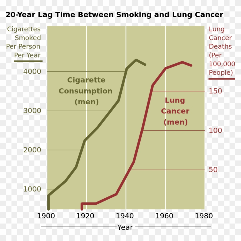 Cancer Smoking Lung Cancer Correlation From Nih - Smoking And Lung Cancer Graph Clipart #980460