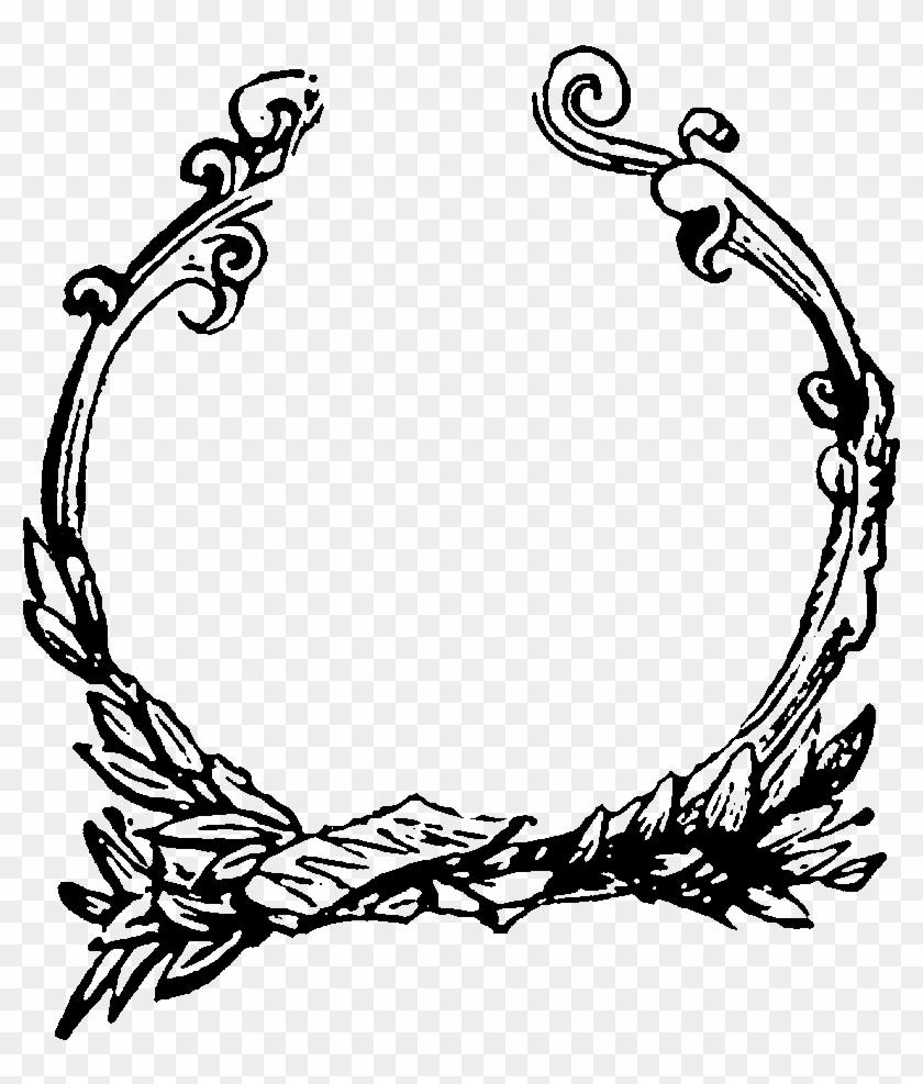 Digital Decorative Circle Frame Image Downloads - Border Circle Design Png Clipart #980593