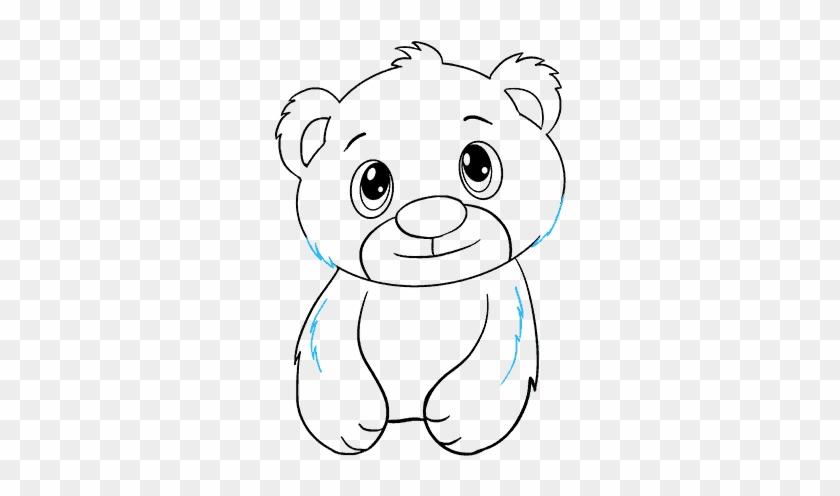 How To Cub In Few Easy Steps - Draw A Polar Bear Cub Clipart #983423