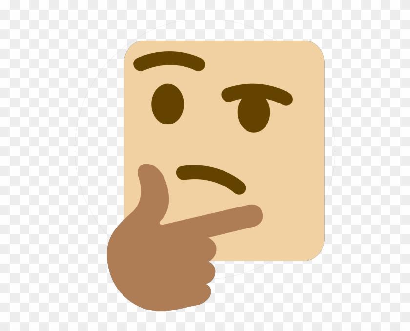 Discord Emojis Transparent - Emoji Pensativo Meme Png Clipart@pikpng.com