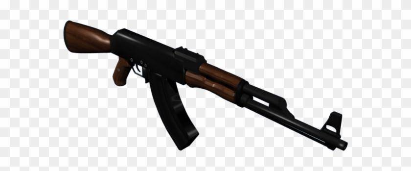 Ak 47 Png - Firearm, Transparent Png #992174