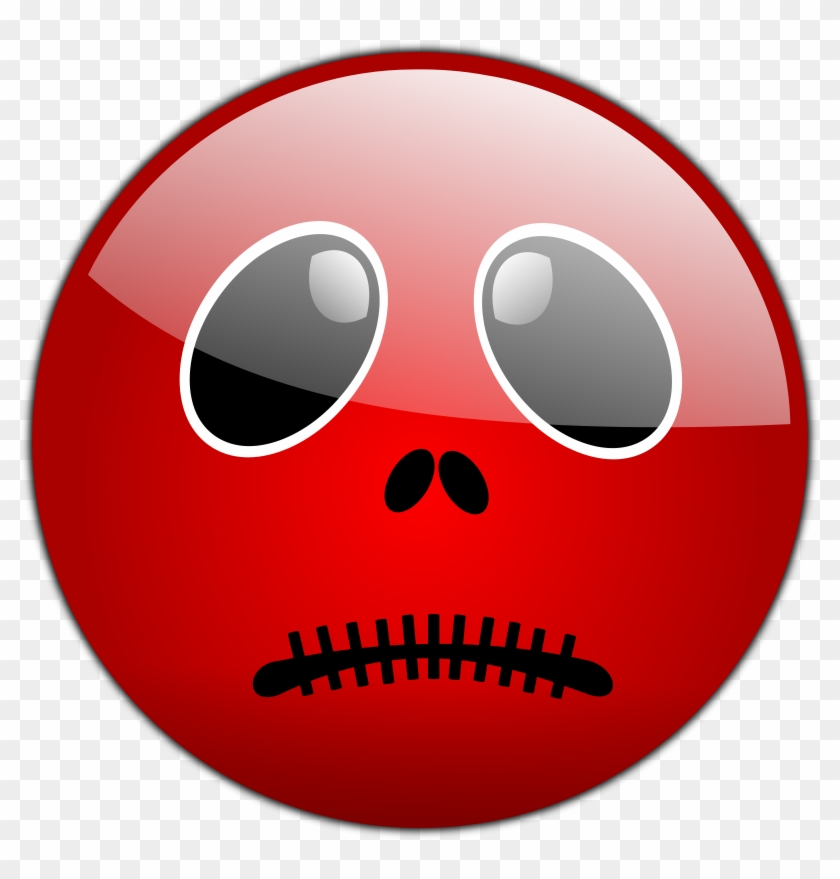 Sad Emoji Clipart Red Faced - Halloween Smiley Face - Png Download #994232