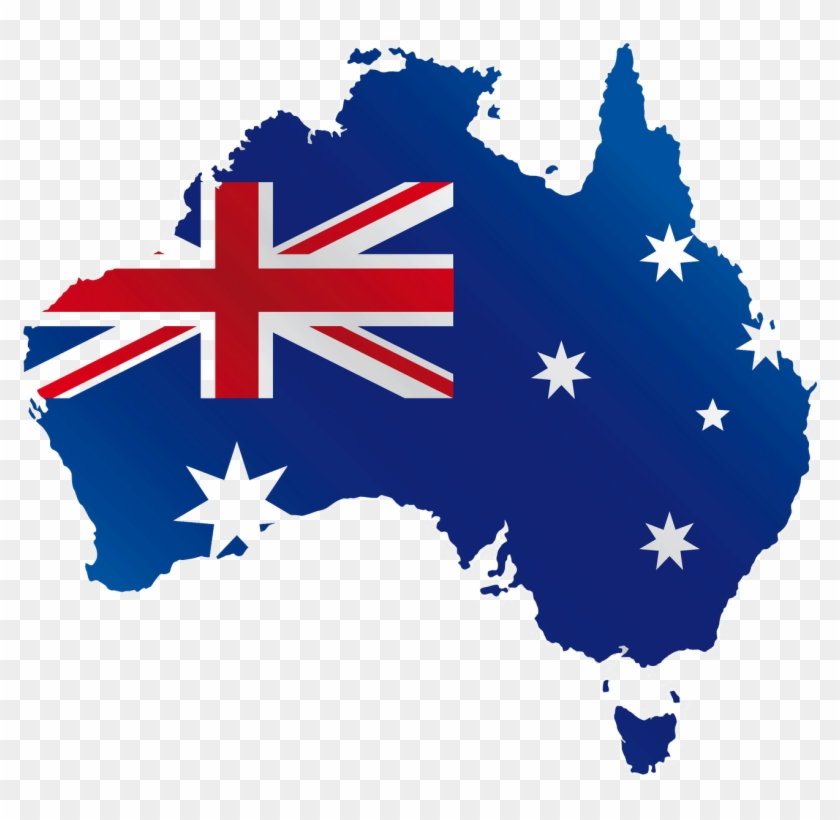 Location - Australia Png - Map Of Australia Flag Clipart #997115